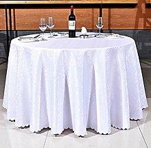 Tischdecken, Runder Tisch Tischdecke, europäisches Art-Hotel-Restaurant, Haushalt-Kaffeetisch-Rock , Hotel Tischdecke ( Farbe : 5# , größe : 300cm )