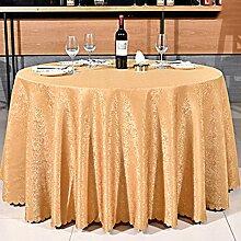 Tischdecken, Runder Tisch Tischdecke, europäisches Art-Hotel-Restaurant, Haushalt-Kaffeetisch-Rock , Hotel Tischdecke ( Farbe : 5# , größe : 260cm )