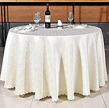Tischdecken, Runder Tisch Tischdecke, europäisches Art-Hotel-Restaurant, Haushalt-Kaffeetisch-Rock , Hotel Tischdecke ( Farbe : 1# , größe : 240cm )