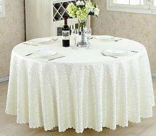 Tischdecken, Runder Tisch Tischdecke, European Style Hotel Restaurant Tischdecke, Haushalt CoffeeTable Rock , Hotel Tischdecke ( Farbe : 2# , größe : 220cm )