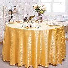 Tischdecken, Runder Tisch Tischdecke, European Style Hotel Restaurant Tischdecke, Haushalt CoffeeTable Rock , Hotel Tischdecke ( Farbe : 5# , größe : 200cm )