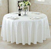 Tischdecken, Runder Tisch Tischdecke, European Style Hotel Restaurant Tischdecke, Haushalt CoffeeTable Rock , Hotel Tischdecke ( Farbe : 1# , größe : 320cm )