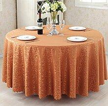 Tischdecken, Runder Tisch Tischdecke, European Style Hotel Restaurant Tischdecke, Haushalt CoffeeTable Rock , Hotel Tischdecke ( Farbe : 3# , größe : 240cm )
