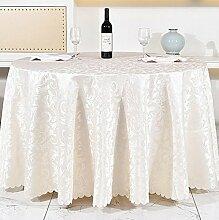 Tischdecken, Runder Tisch Tischdecke, European Style Hotel Restauran, Haushalt Kaffeetisch Rock , Hotel Tischdecke ( Farbe : 3# , größe : 220cm )