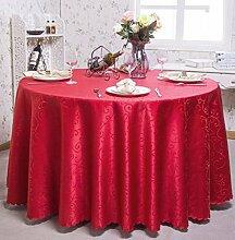 Tischdecken, Runder Tisch Tischdecke, European Style Hotel Restaurant Tischdecke, Haushalt CoffeeTable Rock , Hotel Tischdecke ( Farbe : 4# , größe : 320cm )