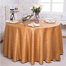 Tischdecken, Runder Tisch Tischdecke, European Style Hotel Restaurant Tischdecke, Haushalt CoffeeTable Rock , Hotel Tischdecke ( Farbe : 8# , größe : 320cm )