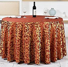 Tischdecken, Runder Tisch Tischdecke, European Style Hotel Restauran, Haushalt Kaffeetisch Rock , Hotel Tischdecke ( Farbe : 1# , größe : 240cm )
