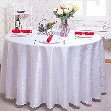 Tischdecken, Runder Tisch Tischdecke, European Style Hotel Restaurant Tischdecke, Haushalt CoffeeTable Rock , Hotel Tischdecke ( Farbe : 1# , größe : 180cm )