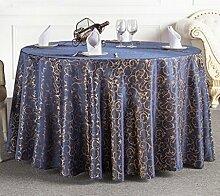 Tischdecken, Runder Tisch Tischdecke, Hotel Tischdecken, European Style Restaurant Tischdecke, Haushalt Kaffee Tisch Tischdecke, Tisch Rock , Hotel Tischdecke ( Farbe : 3# , größe : 260cm )