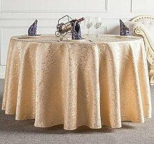Tischdecken, Runder Tisch Tischdecke, Hotel Tischdecken, European Style Restaurant Tischdecke, Haushalt Kaffee Tisch Tischdecke, Tisch Rock , Hotel Tischdecke ( Farbe : 1# , größe : 260cm )