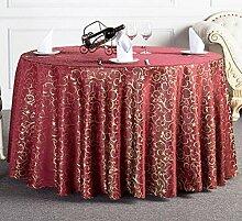 Tischdecken, Runder Tisch Tischdecke, Hotel Tischdecken, European Style Restaurant Tischdecke, Haushalt Kaffee Tisch Tischdecke, Tisch Rock , Hotel Tischdecke ( Farbe : 6# , größe : 320cm )