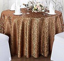 Tischdecken, Runder Tisch Tischdecke, Hotel Tischdecken, European Style Restaurant Tischdecke, Haushalt Kaffee Tisch Tischdecke, Tisch Rock , Hotel Tischdecke ( Farbe : 4# , größe : 240cm )