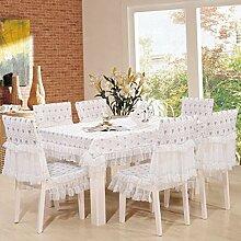 Tischdecken, Spitze Tisch Tuch Runde Tisch Kaffeetisch Kaffeetisch Tischdecke Stoff Esstisch Matte Tisch Flagge Esszimmer Stuhl Abdeckung , Hotel Tischdecke ( Farbe : C , größe : 6# )