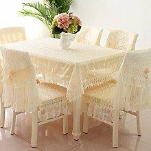 Tischdecken, Tischdecke Stuhl Abdeckung Kissen Tischdecke Stuhl Abdeckung Pastorale Spitze Tischdecke Die Stuhl Sets sind einfach und modern , Hotel Tischdecke ( Farbe : B , größe : 9# )