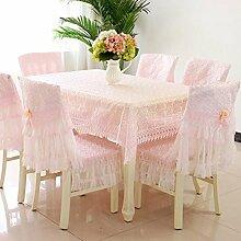 Tischdecken, Tischdecke Stuhl Abdeckung Kissen Tischdecke Stuhl Abdeckung Pastorale Spitze Tischdecke Die Stuhl Sets sind einfach und modern , Hotel Tischdecke ( Farbe : A , größe : 7# )