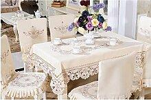 Tischdecken, Tischdecke Tee Pastoral Stickerei Runde Tischdecke Dinette Deckel Stuhl Sets Esszimmer Stuhl Abdeckung , Hotel Tischdecke ( größe : 7# )