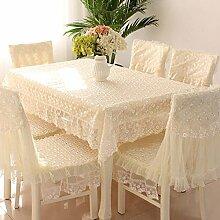 Tischdecken, Tischdecke Tischdecke Kissen Stuhl Abdeckung Anzüge Couchtisch Stoff Pastoral Spitze Stoff Stuhl Sets Einfach und Modern , Hotel Tischdecke ( Farbe : B , größe : 5# )