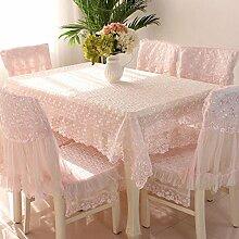 Tischdecken, Tischdecke Tischdecke Kissen Stuhl Abdeckung Anzüge Couchtisch Stoff Pastoral Spitze Stoff Stuhl Sets Einfach und Modern , Hotel Tischdecke ( Farbe : C , größe : 7# )