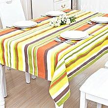 Tischdecken/Tischsets/TV Schrank-Tischdecke/Tuch/Matte/Tischdecke decke/Tischwäsche/Pastorale Baumwolle Tischdecke-H 110x150cm(43x59inch)