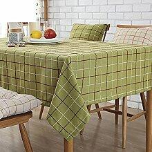Tischdecken/Tuch/ amerikanische Baumwolle und Leinen Tischdecken Restaurant und Bar/ Karierten Tischdecke/ Tischtuch/Tischdecken/runder Tisch-A 135x180cm(53x71inch)