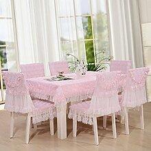 Tischdecken, Tuch-Hirten-Tabellen-Kleid-Stuhl-Kissen-Stuhl-Abdeckungs-Spitze-Abdeckungs-Tuch-Stuhl-Kissen-Kaffeetisch-Tuch , Hotel Tischdecke ( Farbe : B , größe : 7# )