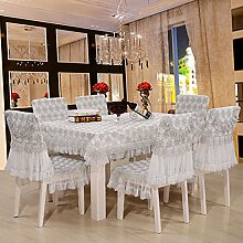 Tischdecken, Tuch-Hirten-Tabellen-Kleid-Stuhl-Kissen-Stuhl-Abdeckungs-Spitze-Abdeckungs-Tuch-Stuhl-Kissen-Kaffeetisch-Tuch , Hotel Tischdecke ( Farbe : C , größe : 4# )
