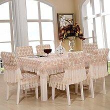 Tischdecken, Tuch-Hirten-Tabellen-Kleid-Stuhl-Kissen-Stuhl-Abdeckungs-Spitze-Abdeckungs-Tuch-Stuhl-Kissen-Kaffeetisch-Tuch , Hotel Tischdecke ( Farbe : A , größe : 6# )