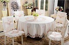 Tischdecken, Tuch Tischdecke Abdeckungen Stuhl Kissen Set Pastoral bestickt Tischdecke Tischdecke Tisch Tisch Stuhl Sets , Hotel Tischdecke ( Farbe : 12# )