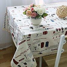 Tischdecken Tücher Kunsthandwerk Tischdecken Haushaltsprodukte Baumwolle Und Leinen Druck Heimtextilien Multi-Size,140*180cm