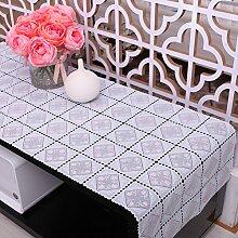 Tischdecken/UmweltschutzPVC Tischtuch/Tischdecke decke/Tischsets/Lacy durchbrochenen Untersetzer/ Vase Pad/Tischdecke decke-H 50x200cm(20x79inch)