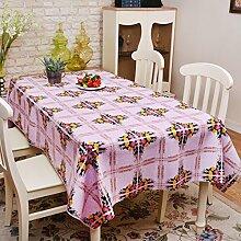 Tischdecken/wasserdichtPVC Einweg-Tischdecke/Öl-Tuch/ Tischtuch/Pastorale bildende Kunst/ gepolstert Tischdecke-E 137x200cm(54x79inch)