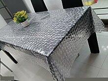 Tischdecken/ weiche Glas-Tischdecke /Transparente Tischdecke/Matte/Wasserfeste Einweg-Tischdecke/KristallplattePVCTischdecken/Tischsets-A 137x120cm(54x47inch)
