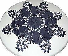 Tischdecken --Weihnachten-- Stern 85 cm Blau