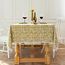 Tischdeckenbeschwerer Gelbe Party-Tischdecke,