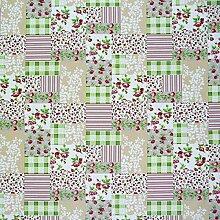 Tischdeckenstoff Rosen Patchwork Wachstuch beschichtete Baumwolle