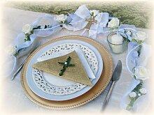 Tischdeko Ehrenplatz Kommunion Konfirmation Grün Weiß Tischdeko Deko