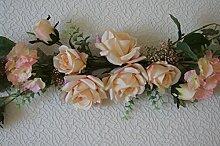 Tischdeko Hochzeit Tischdekoration Taufe Kommunion Konfirmation Party Feste CS73 (Creme - Rosa)