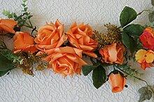 Tischdeko Hochzeit Tischdekoration Taufe Kommunion Konfirmation Party Feste CS73 (Orange)