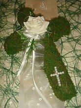Tischdekoration für ca. 30 Personen Mooskreuz zur Taufe Kommunion Tischdeko TD0027