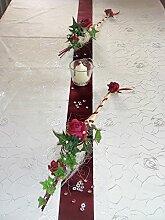 Tischdekoration für ca. 60 Pers. bordeaux zur Hochzeit Tischdeko TD0002