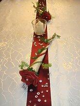 Tischdekoration für ca. 60 Pers. bordeaux zur Hochzeit Tischdeko TD0038