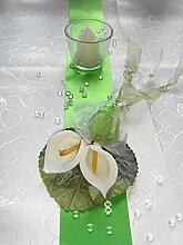 Tischdekoration für ca. 60 Pers. grün Calla zur Hochzeit Tischdeko TD0037