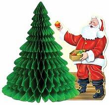 Tischdekoration Weihnachtsmann mit Seidenbaum, 28
