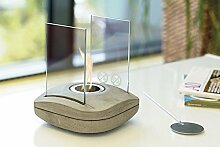Tischfeuer Glaskamin Tischkamin Designlampe SQUARE