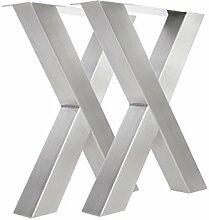 Tischgestell Edelstahl TUX600 Tischuntergestell Tischkufe Kufengestell 590mm breit Tischkreuz