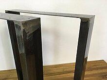 Tischgestell Rohstahl TUGk-600 Tischuntergestell 600 breit Tischkufe Kufengestell (1Paar)