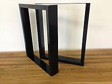 Tischgestell Stahl TU100s 500mm breit Tischuntergestell Tischkufe Kufengestell