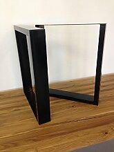 Tischgestell Stahl TU100s 700mm breit Tischuntergestell Tischkufe Kufengestell
