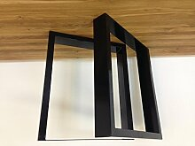 Tischgestell Stahl TU100s 800mm breit Tischuntergestell Tischkufe Kufengestell