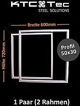Tischgestell weiß TRGw Tischuntergestell Tischkufe Kufengestell Breite 600 mm - 1 Paar (2 Rahmen)